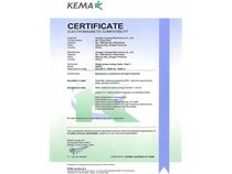 The Netherlands KEMA certification 1